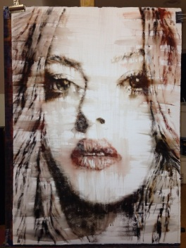 6 NorbertWaysberg,she, water color on paper, 40 by 30